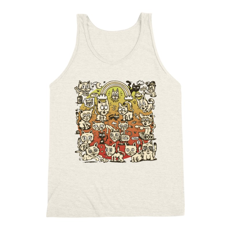 Cats of the World Men's Triblend Tank by vtavast's Artist Shop