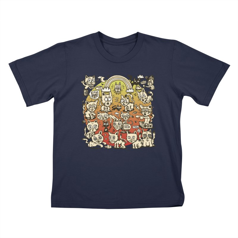 Cats of the World Kids T-Shirt by vtavast's Artist Shop