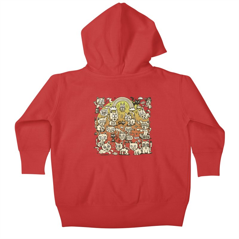 Cats of the World Kids Baby Zip-Up Hoody by vtavast's Artist Shop