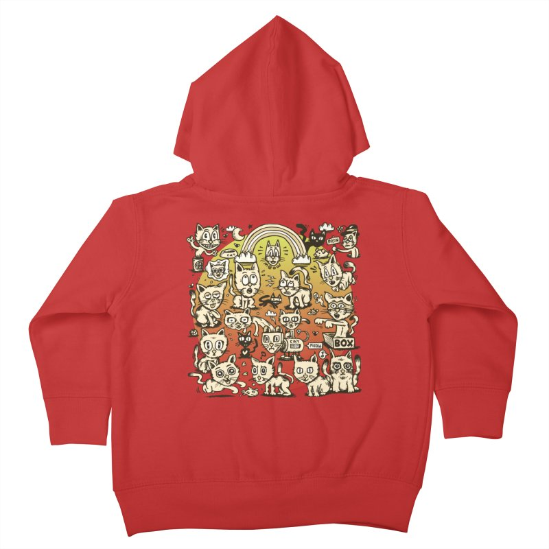 Cats of the World Kids Toddler Zip-Up Hoody by vtavast's Artist Shop