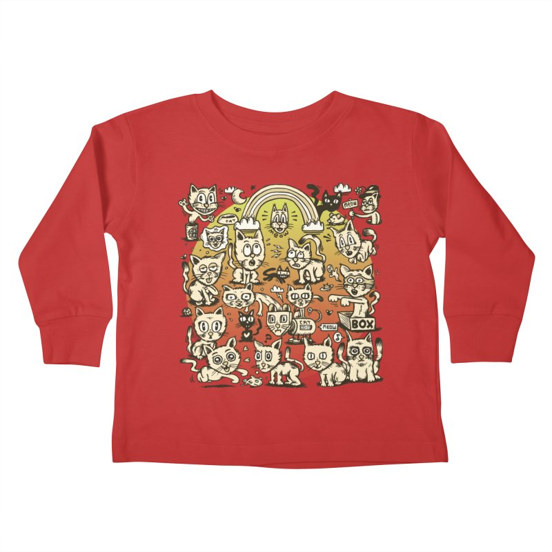 Cats of the World Kids Toddler Longsleeve T-Shirt by vtavast's Artist Shop