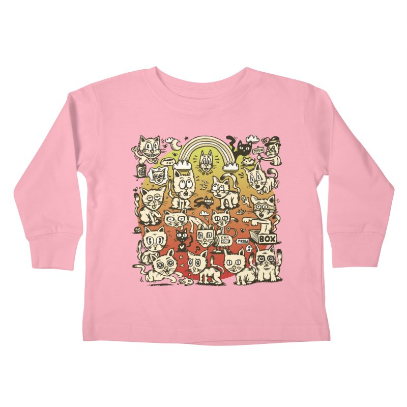Cats of the World Kids Toddler Longsleeve T-Shirt by vtavast's Artist Shop