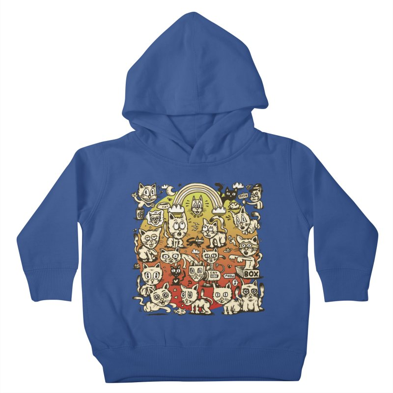 Cats of the World Kids Toddler Pullover Hoody by vtavast's Artist Shop