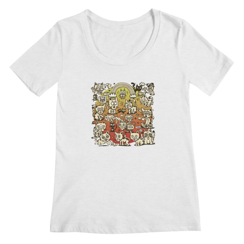 Cats of the World Women's Scoop Neck by vtavast's Artist Shop