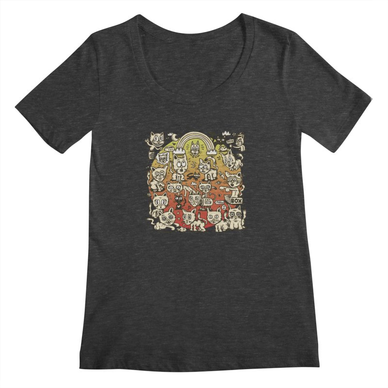 Cats of the World Women's Scoopneck by vtavast's Artist Shop