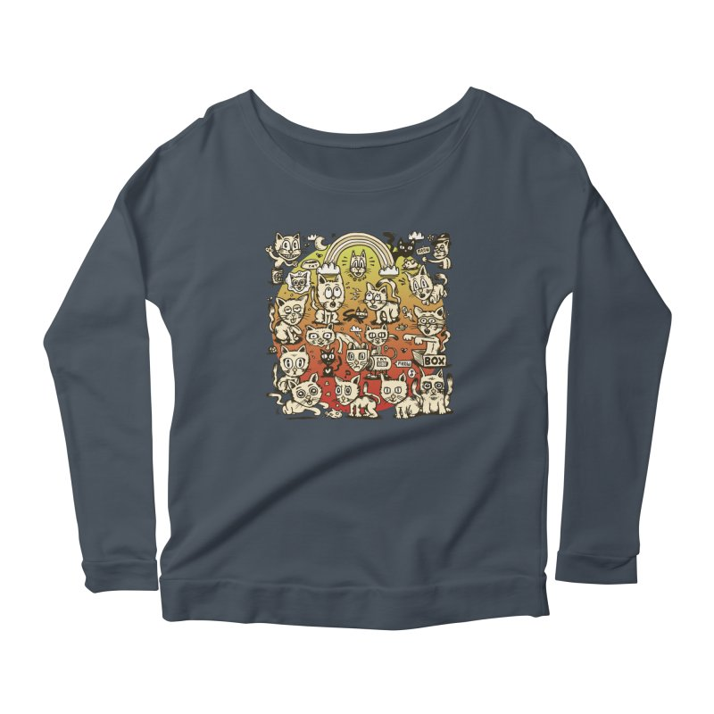 Cats of the World Women's Scoop Neck Longsleeve T-Shirt by vtavast's Artist Shop