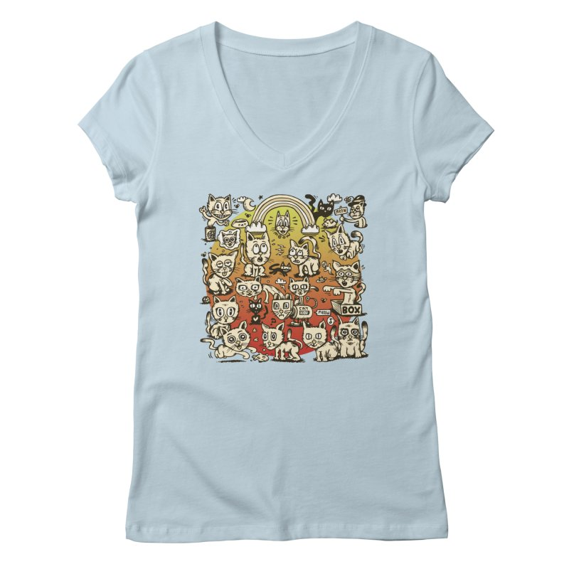 Cats of the World Women's Regular V-Neck by vtavast's Artist Shop