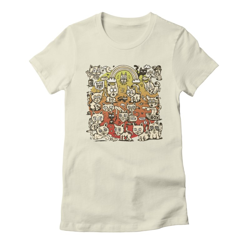 Cats of the World Women's Fitted T-Shirt by vtavast's Artist Shop