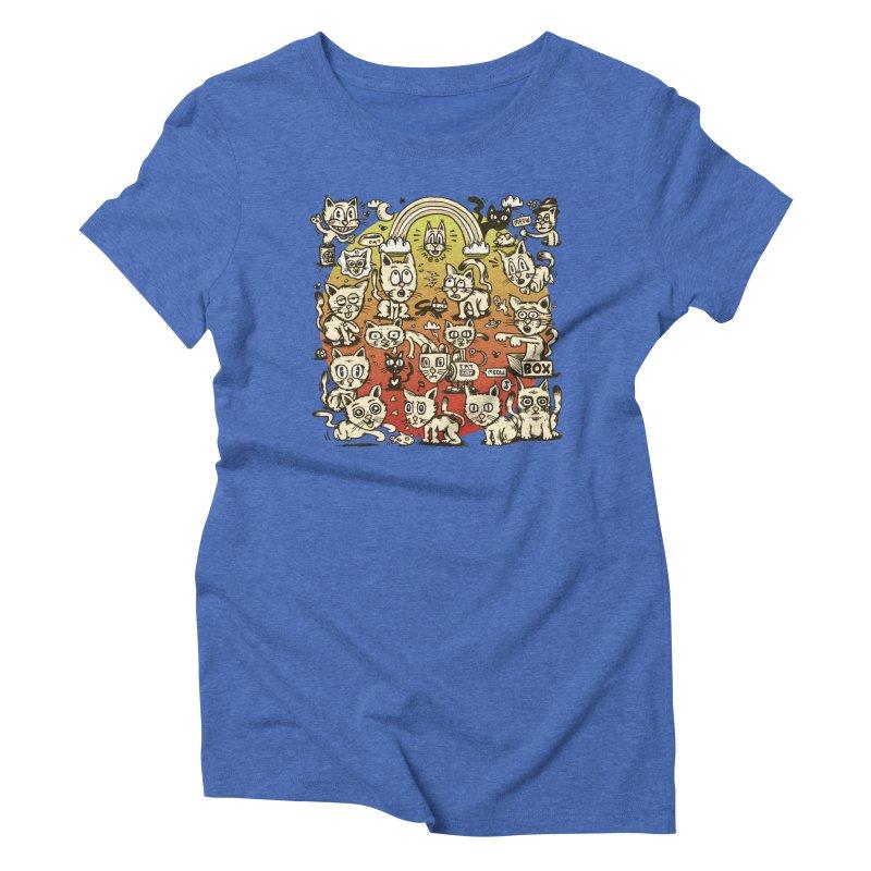 Cats of the World Women's Triblend T-Shirt by vtavast's Artist Shop