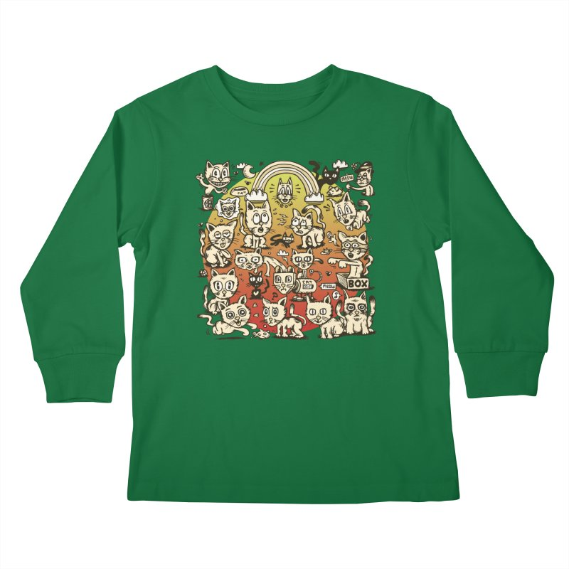 Cats of the World Kids Longsleeve T-Shirt by vtavast's Artist Shop