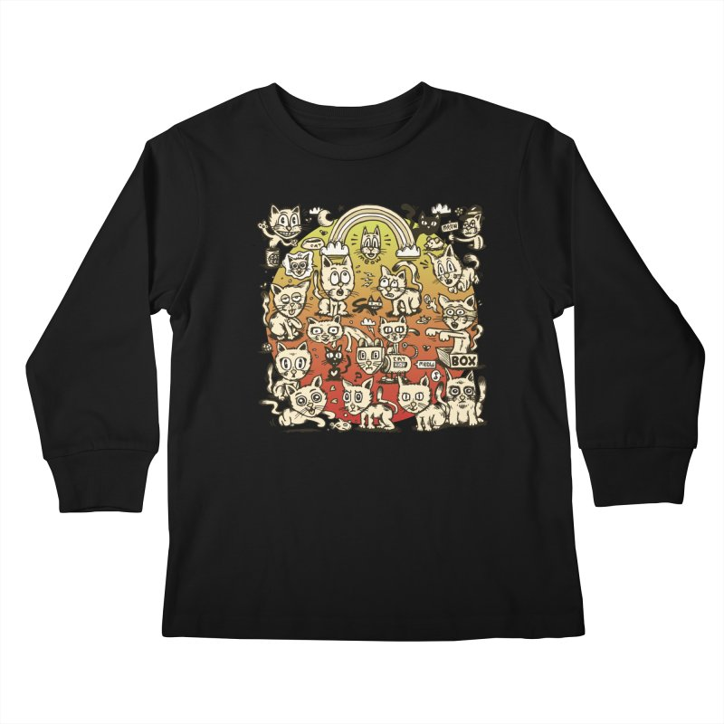Cats of the World Kids Longsleeve T-Shirt by vtavast's Artist Shop