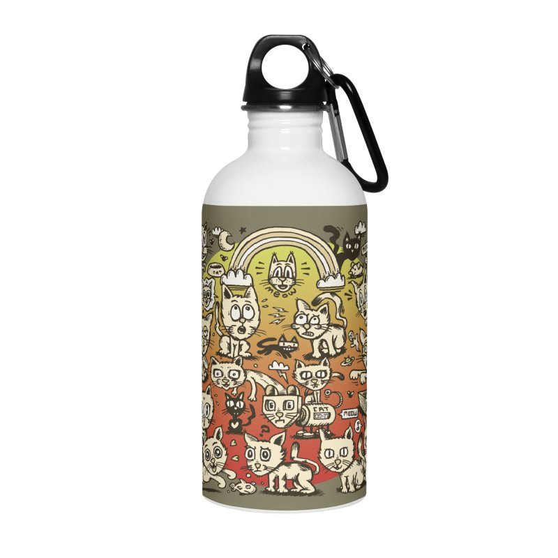 Cats of the World Accessories Water Bottle by vtavast's Artist Shop