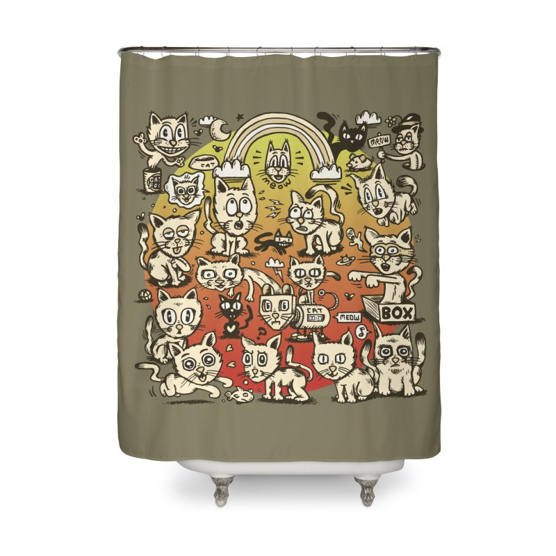 Cats of the World Home Shower Curtain by vtavast's Artist Shop