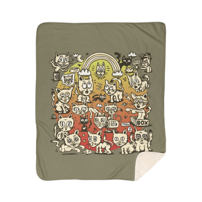 Cats of the World Home Sherpa Blanket Blanket by vtavast's Artist Shop