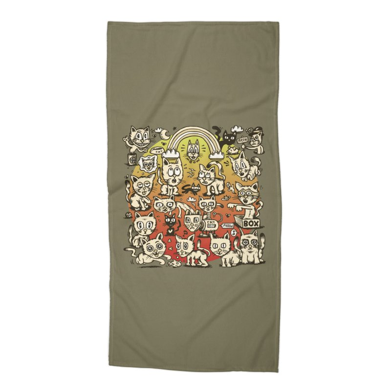 Cats of the World Accessories Beach Towel by vtavast's Artist Shop