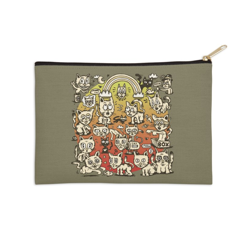 Cats of the World Accessories Zip Pouch by vtavast's Artist Shop