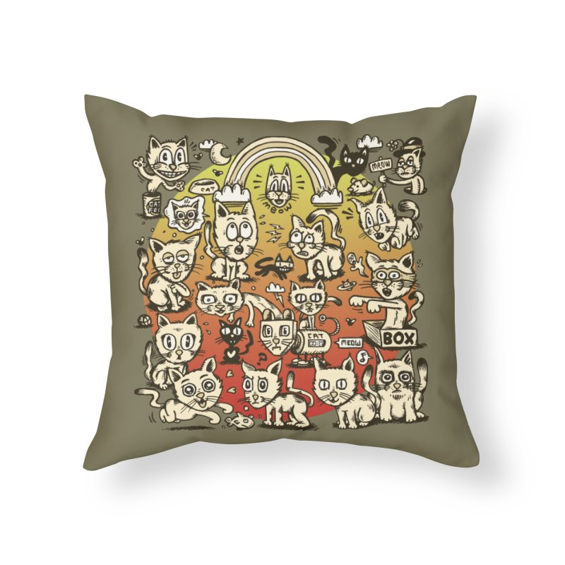 Cats of the World Home Throw Pillow by vtavast's Artist Shop