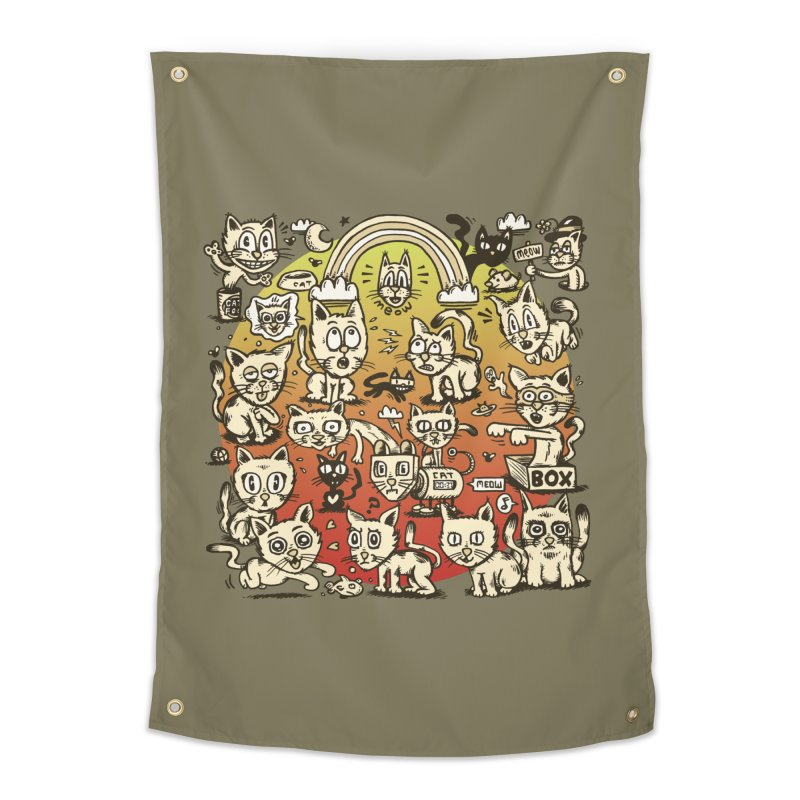 Cats of the World Home Tapestry by vtavast's Artist Shop