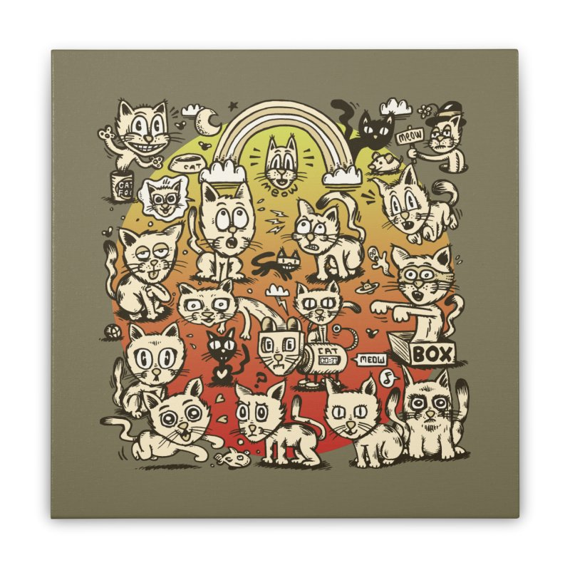 Cats of the World Home Stretched Canvas by vtavast's Artist Shop