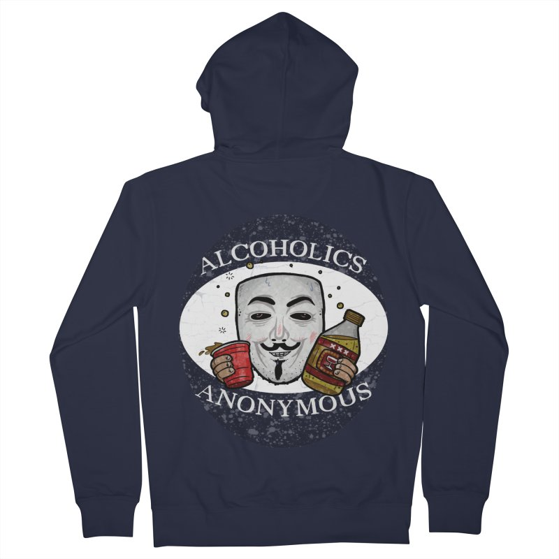 Alcoholics Anonymous Women's French Terry Zip-Up Hoody by vtavast's Artist Shop