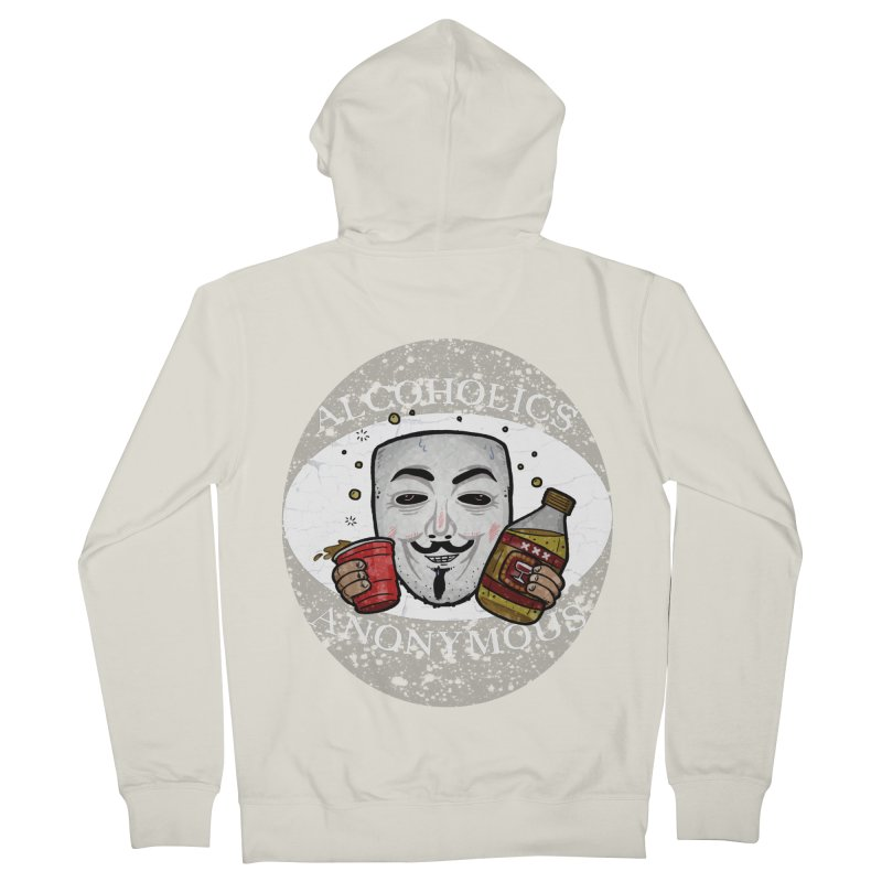 Alcoholics Anonymous Men's French Terry Zip-Up Hoody by vtavast's Artist Shop