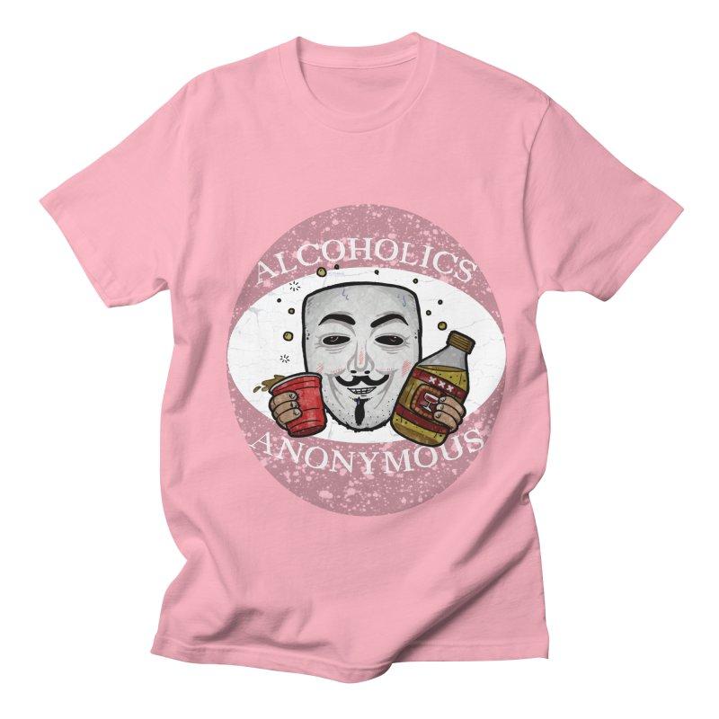 Alcoholics Anonymous Men's Regular T-Shirt by vtavast's Artist Shop