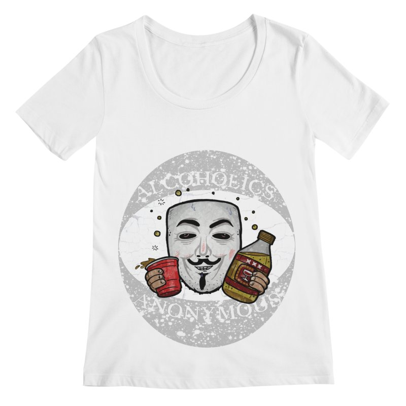 Alcoholics Anonymous Women's Regular Scoop Neck by vtavast's Artist Shop