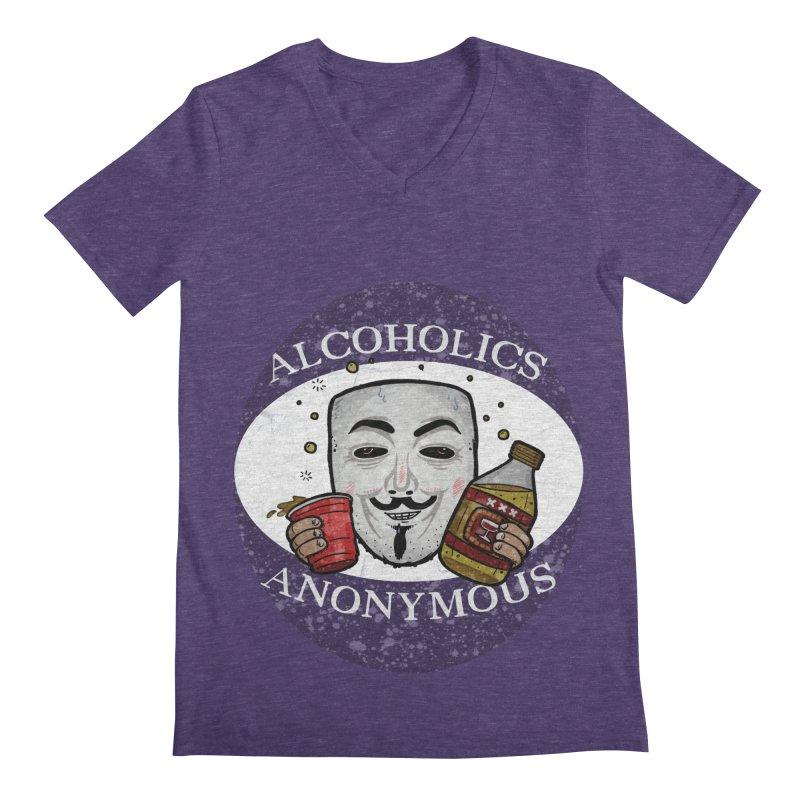 Alcoholics Anonymous Men's Regular V-Neck by vtavast's Artist Shop