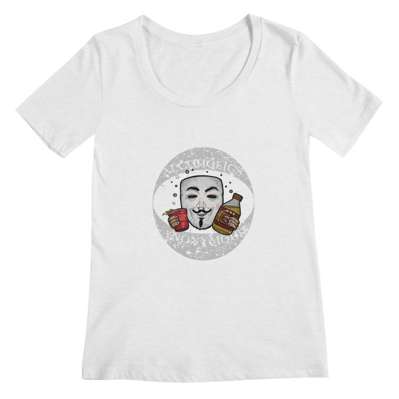 Alcoholics Anonymous Women's Scoop Neck by vtavast's Artist Shop