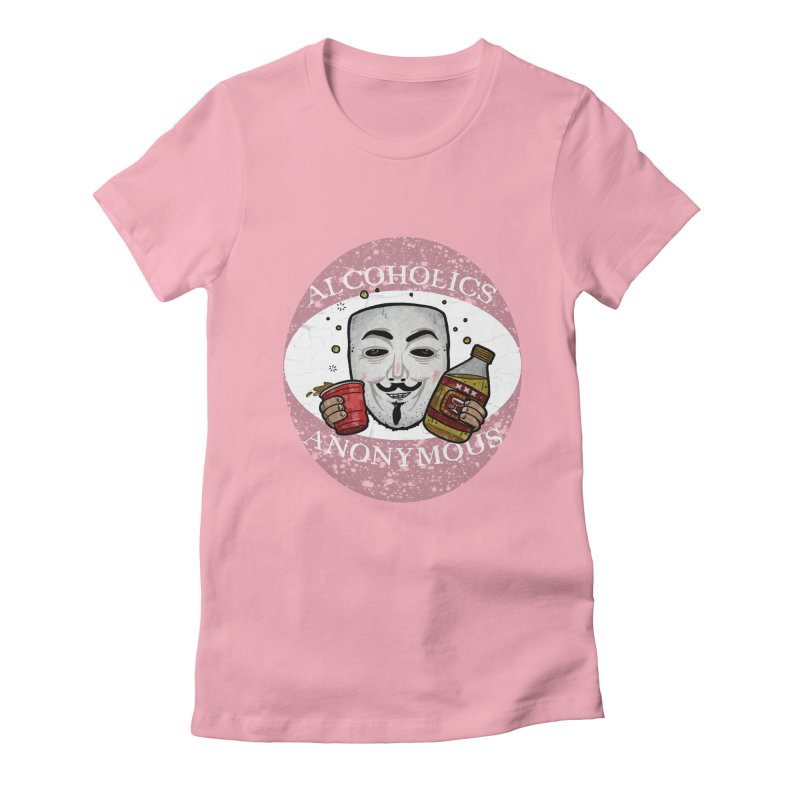 Alcoholics Anonymous Women's Fitted T-Shirt by vtavast's Artist Shop
