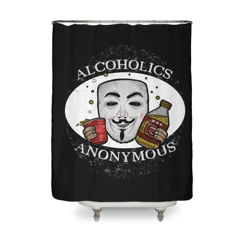 Alcoholics Anonymous Home Shower Curtain by vtavast's Artist Shop