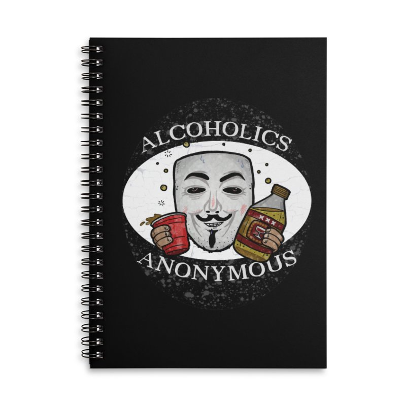 Alcoholics Anonymous Accessories Notebook by vtavast's Artist Shop