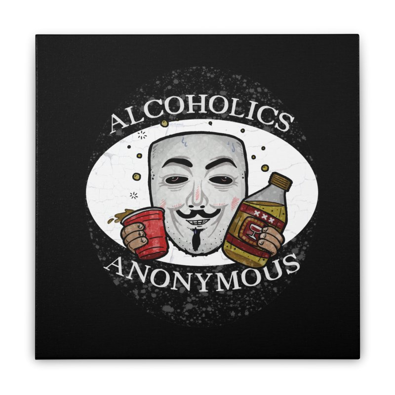 Alcoholics Anonymous Home Stretched Canvas by vtavast's Artist Shop