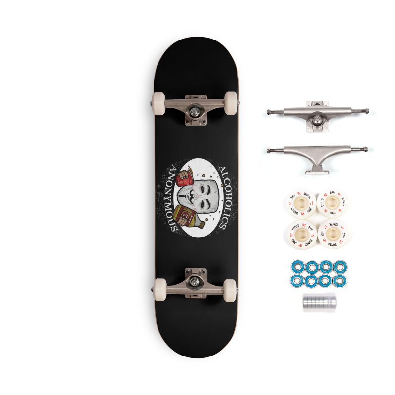 Alcoholics Anonymous Accessories Complete - Premium Skateboard by vtavast's Artist Shop