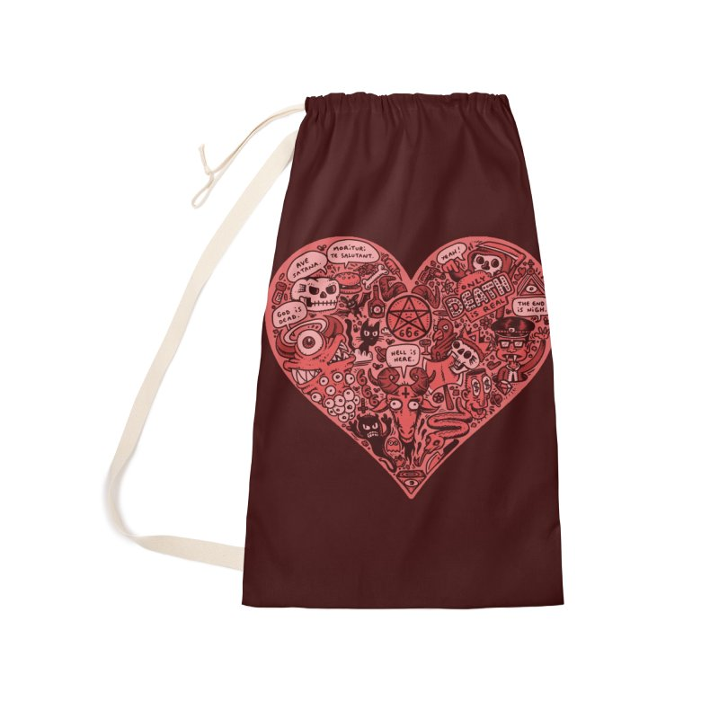 Heart of Darkness Accessories Laundry Bag Bag by vtavast's Artist Shop