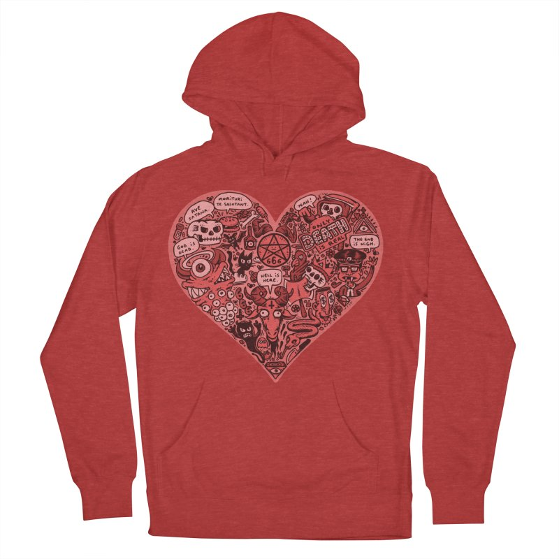 Heart of Darkness Women's French Terry Pullover Hoody by vtavast's Artist Shop