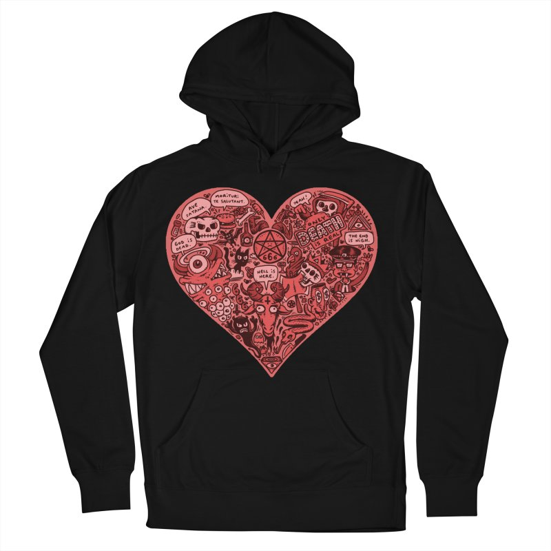 Heart of Darkness Men's French Terry Pullover Hoody by vtavast's Artist Shop