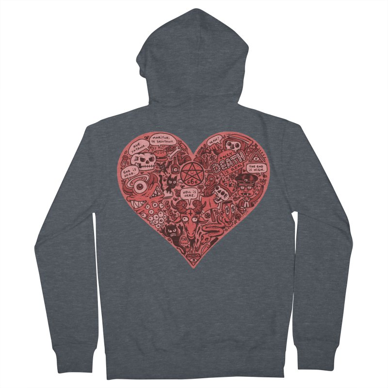 Heart of Darkness Women's French Terry Zip-Up Hoody by vtavast's Artist Shop