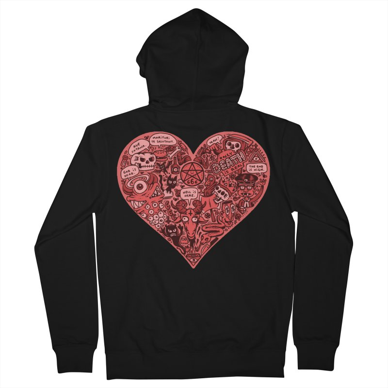 Heart of Darkness Women's Zip-Up Hoody by vtavast's Artist Shop