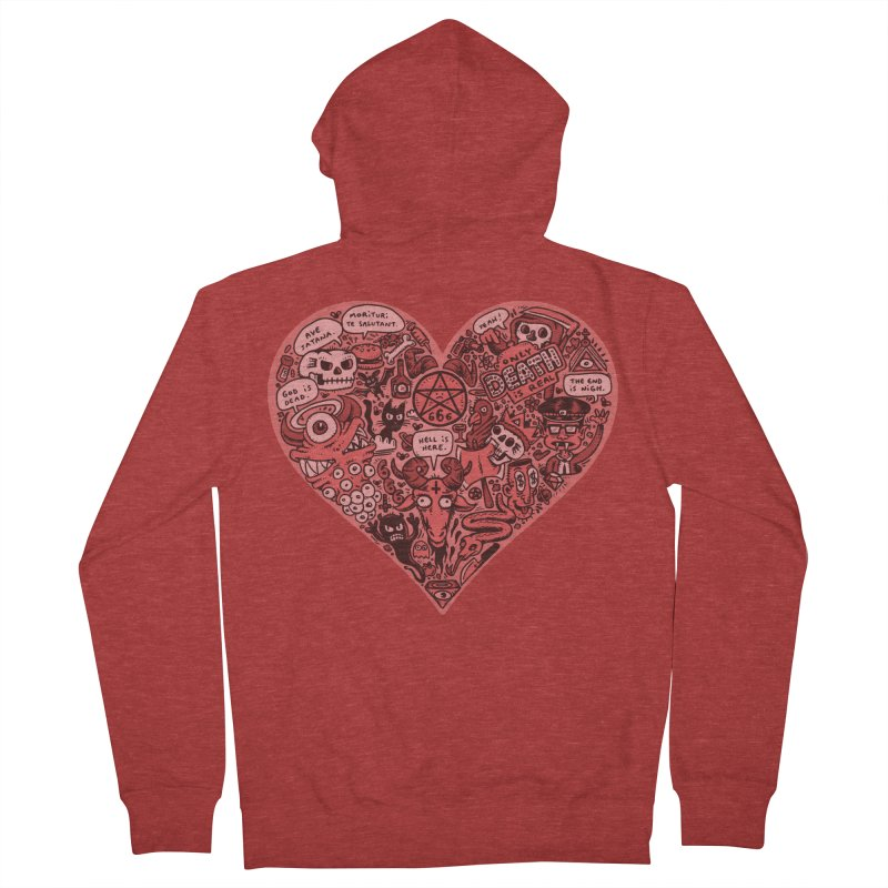 Heart of Darkness Men's French Terry Zip-Up Hoody by vtavast's Artist Shop