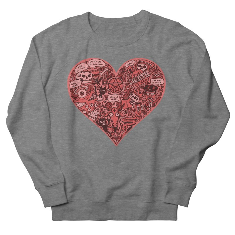Heart of Darkness Women's French Terry Sweatshirt by vtavast's Artist Shop