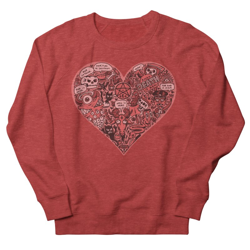 Heart of Darkness Men's French Terry Sweatshirt by vtavast's Artist Shop