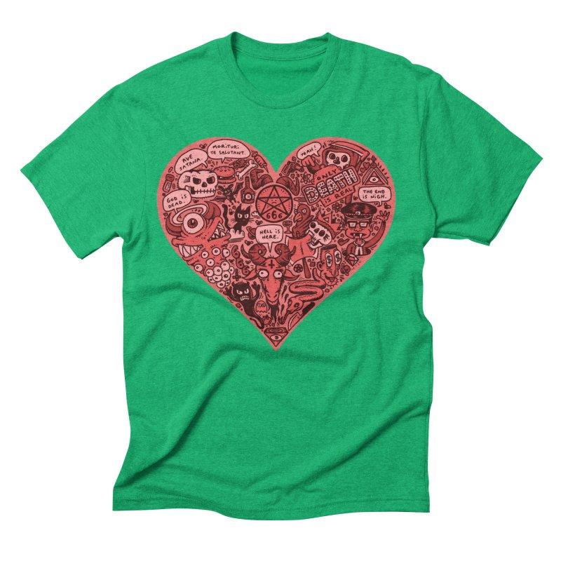 Heart of Darkness Men's Triblend T-Shirt by vtavast's Artist Shop