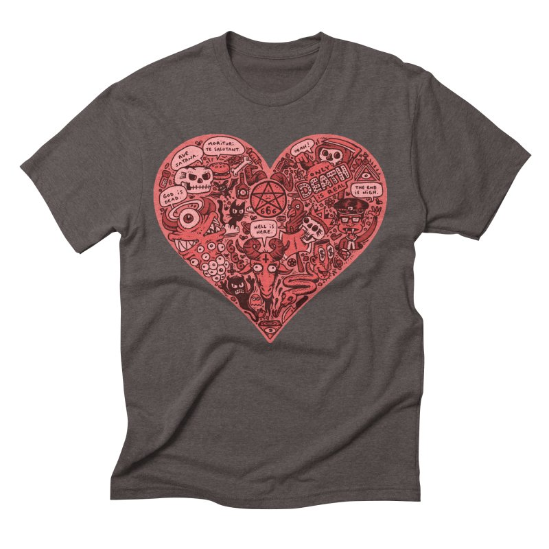 Heart of Darkness Men's Triblend T-Shirt by vtavast's Artist Shop