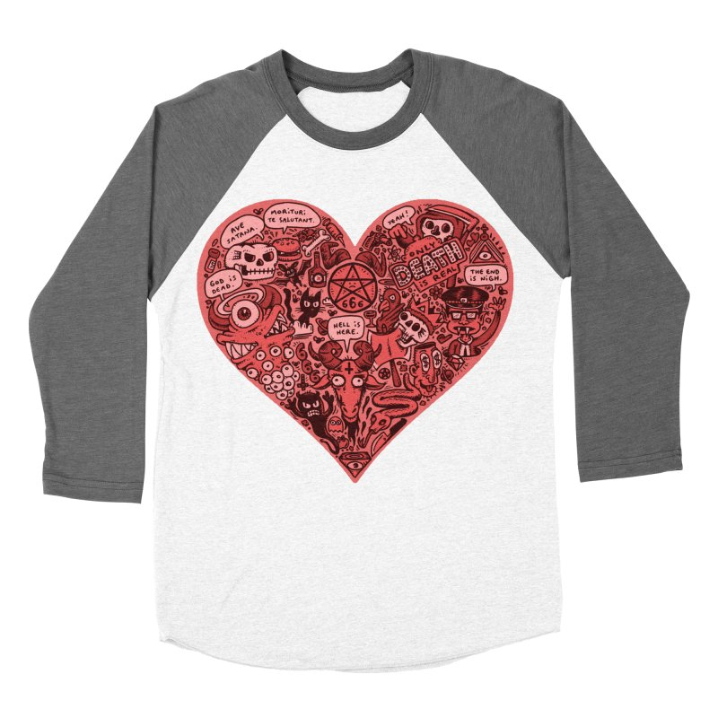 Heart of Darkness Women's Baseball Triblend T-Shirt by vtavast's Artist Shop