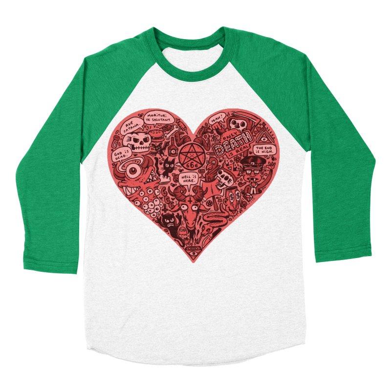 Heart of Darkness Men's Baseball Triblend T-Shirt by vtavast's Artist Shop