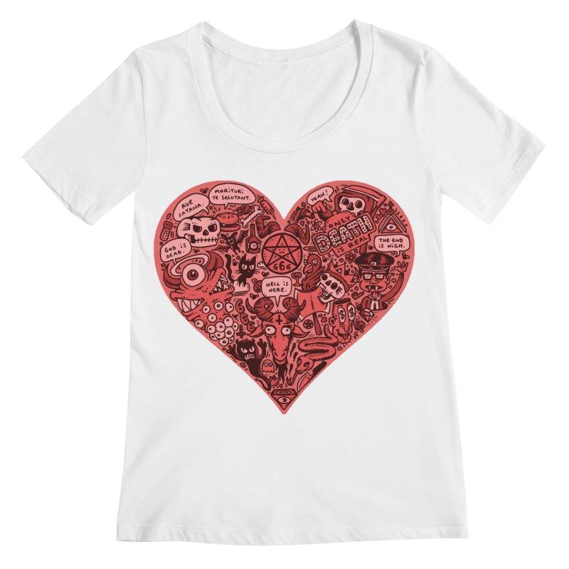 Heart of Darkness Women's Regular Scoop Neck by vtavast's Artist Shop