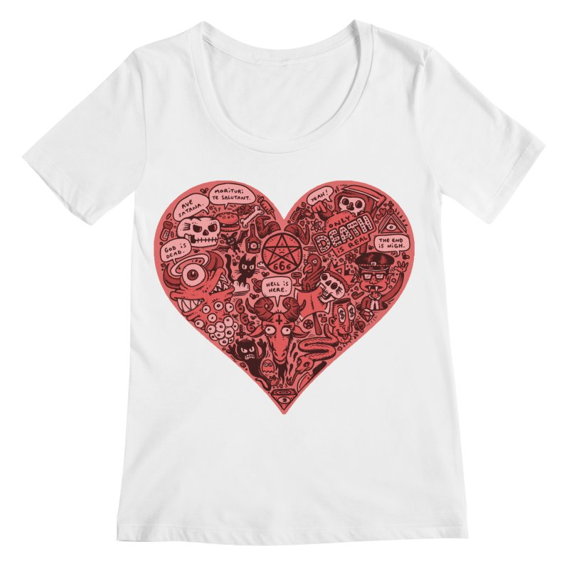 Heart of Darkness Women's Regular Scoop Neck by vtavast's Artist Shop