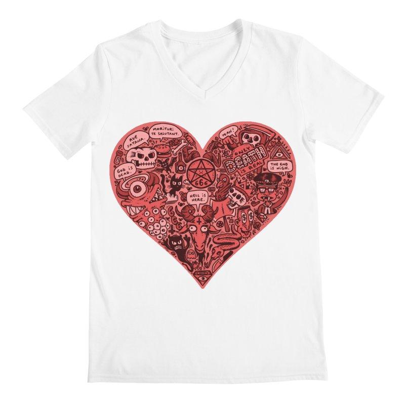 Heart of Darkness Men's V-Neck by vtavast's Artist Shop