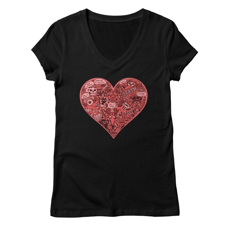 Heart of Darkness Women's V-Neck by vtavast's Artist Shop